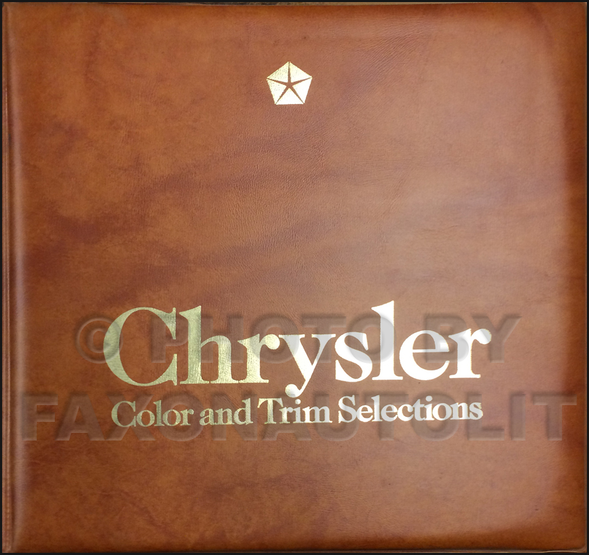 1986 Chrysler Color & Upholstery Album Original
