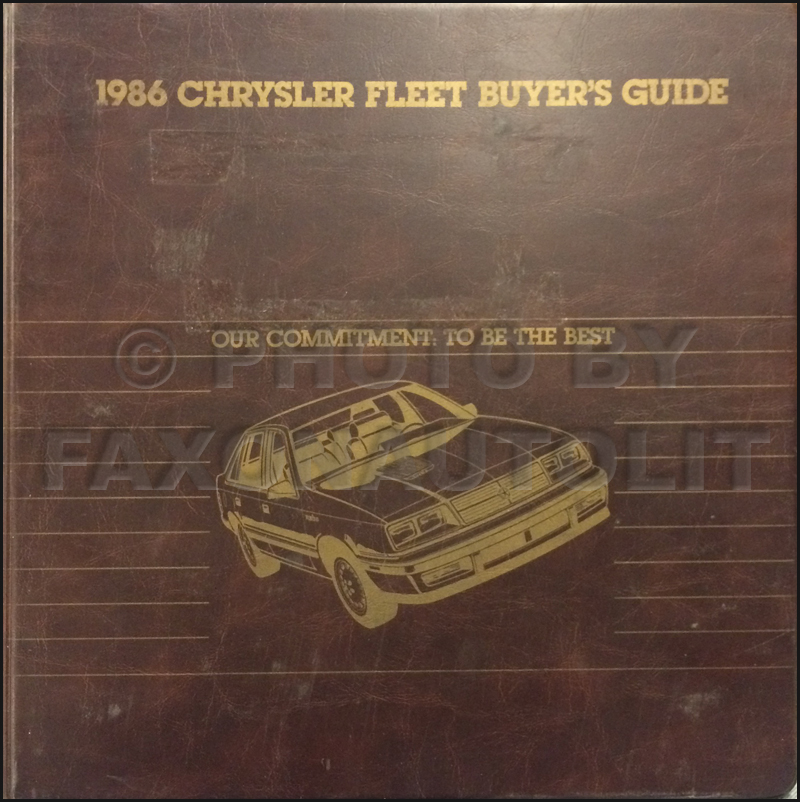 1986 Chrysler Plymouth Dodge Fleet Buyer's Guide Original