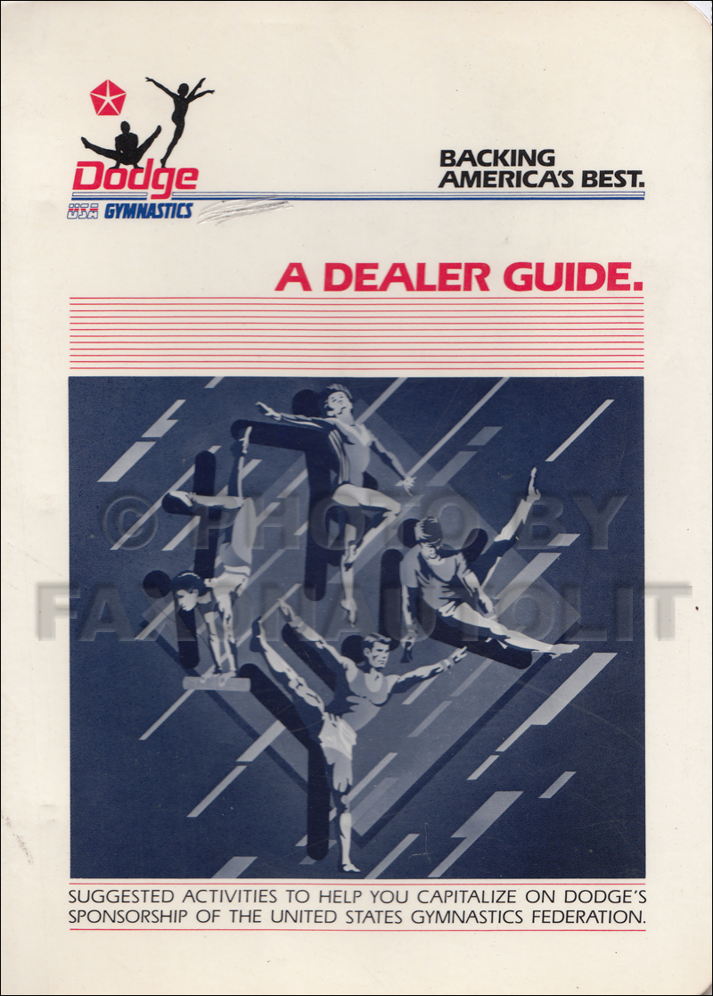 1986 Dodge Gymnastics Sponsorship Dealer Guide Ad Planner Original