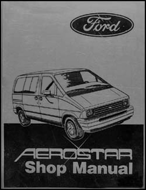 1986 Ford Aerostar Original Repair Manual