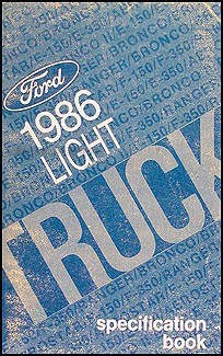 1986 Ford Pickup and Van Service Specifications Book Original