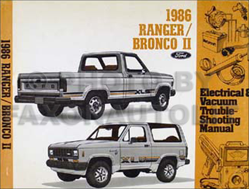 1986 ford ranger and bronco ii factory foldout wiring diagram. Black Bedroom Furniture Sets. Home Design Ideas