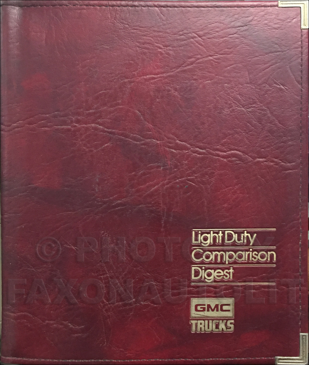 1986 GMC Light Duty Competitive Comparison Dealer Album Set Original