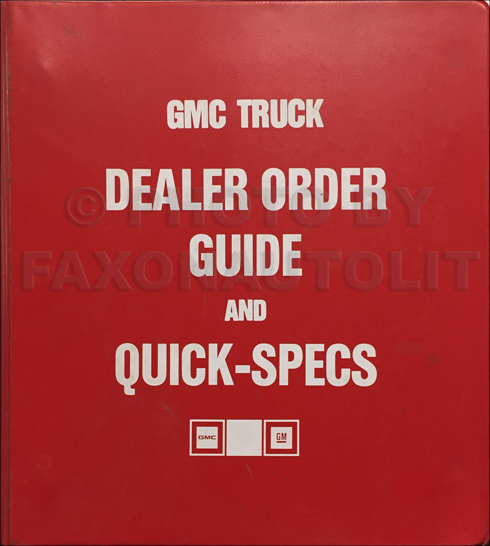 1986 Chevy Gmc Forward Control Wiring Diagram Original Stepvan 1984 P30 Step Van Light Duty Ordering Guide Dealer Album