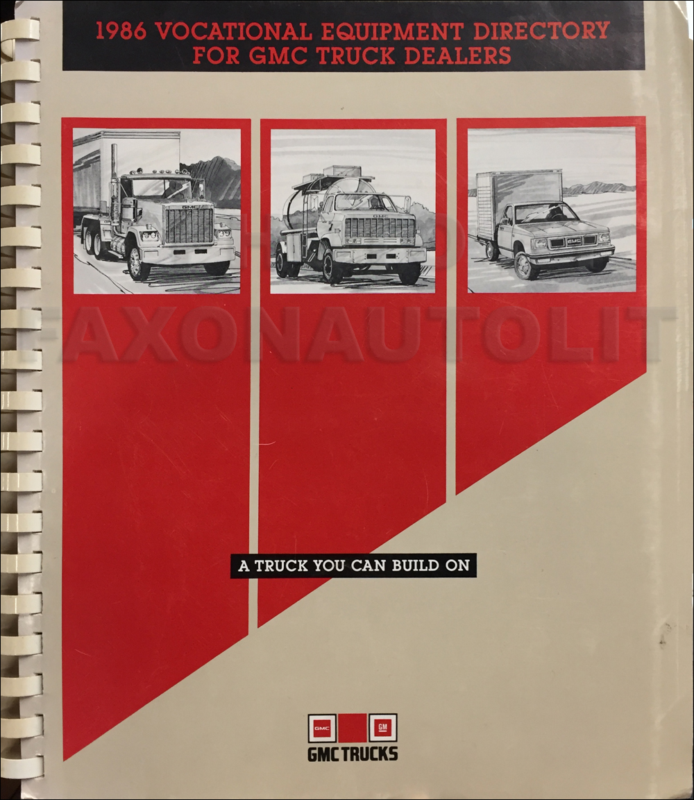 1986 Gmc General Foldout Wiring Diagram Original