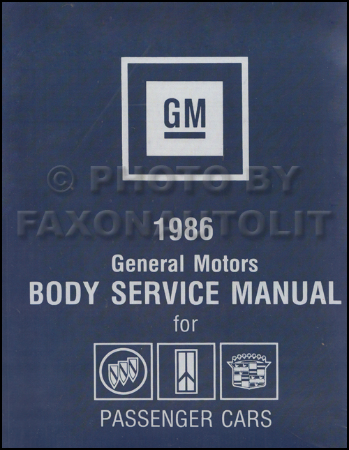 1986 Buick Body Repair Shop Manual Reprint