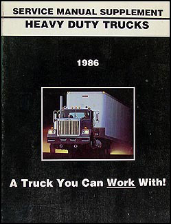 1986 GMC Heavy Duty Truck Shop Manual Original Supplement