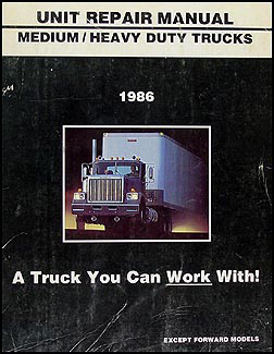 1986 GMC Medium & Heavy Truck Overhaul Manual Original