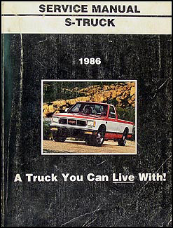1986 GMC S-15 Pickup & Jimmy Shop Manual Original
