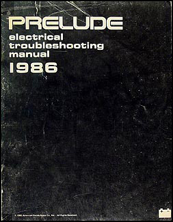 1986 Honda Prelude Electrical Troubleshooting Manual Original