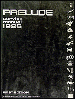 1986 Honda Prelude Repair Manual Original