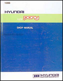 1986 Hyundai Pony Repair Manual Original