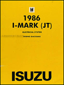 1986 Isuzu I-Mark Electrical Troubleshooting Manual Original