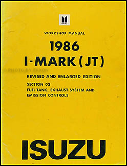1986 Isuzu I-Mark Fuel and Emissions Repair Manual Supplement Original