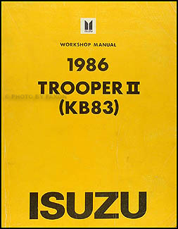 1986 Isuzu Trooper II Repair Manual