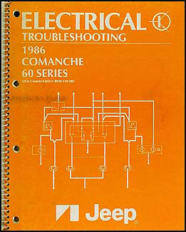 [WQZT_9871]  1986 Jeep Comanche Electrical Troubleshooting Manual Original | 1986 Jeep Comanche Wiring Diagram |  | Faxon Auto Literature