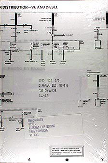 1986 Jeep Comanche Wiring Diagram Set NOS Jeep Comanche Electrical Wiring Schematic on