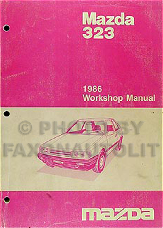 1986 Mazda 323 Repair Manual Original