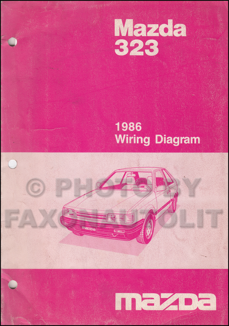 1986 Mazda 323 Wiring Diagram Manual Original