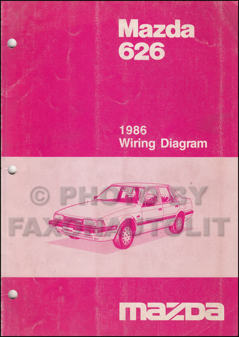 1986 Mazda 626 Wiring Diagram Manual Original