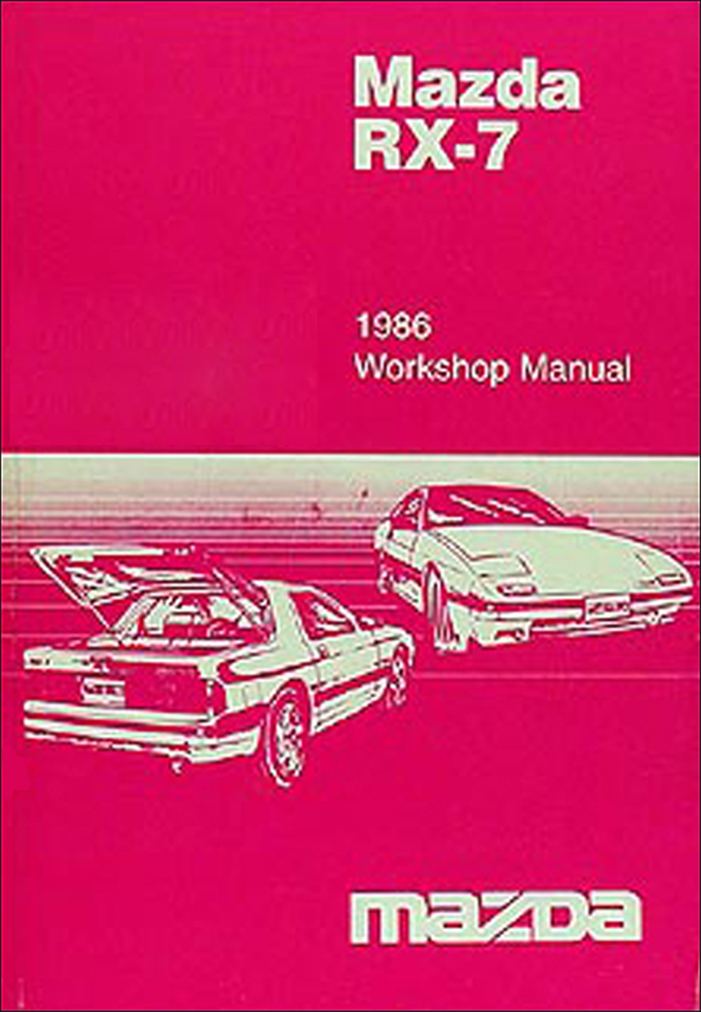 1986 Mazda RX-7 Repair Manual Original
