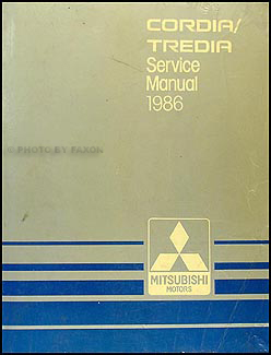 1986 Mitsubishi Cordia/Tredia Repair Manual Original