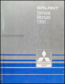 1986 Mitsubishi Galant Repair Manual Original