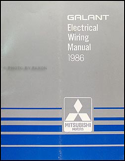 1986 Mitsubishi Galant Wiring Diagram Manual Original