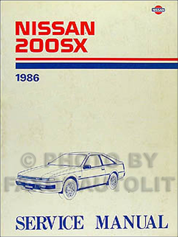 1986 Nissan 200SX Repair Manual Original