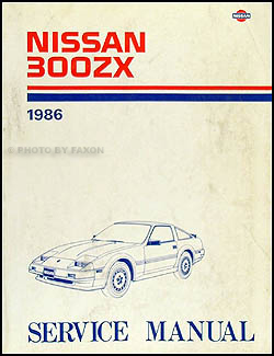 1986 Nissan 300ZX Repair Manual Original