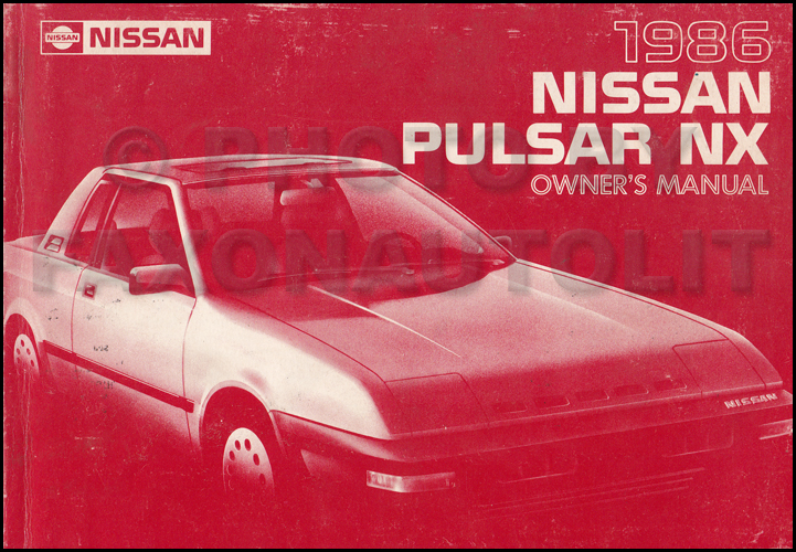 1986 Nissan Pulsar Nx Repair Shop Manual Original