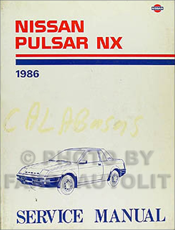 1986 Nissan Pulsar NX Repair Manual Original