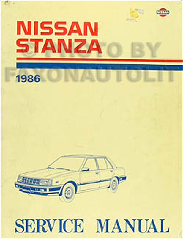 1986 Nissan Stanza Sedan Repair Manual Original