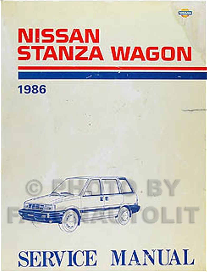 1986 Nissan Stanza Wagon 4WD Repair Manual Original Supplement