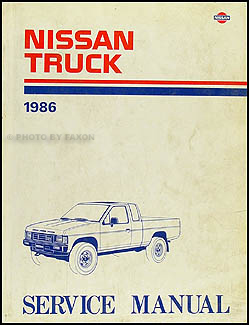 1986 Nissan Truck Repair Manual Original