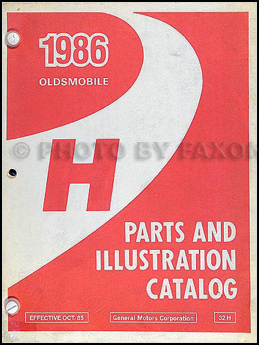 1986 Oldsmobile Delta 88 Parts Book Original