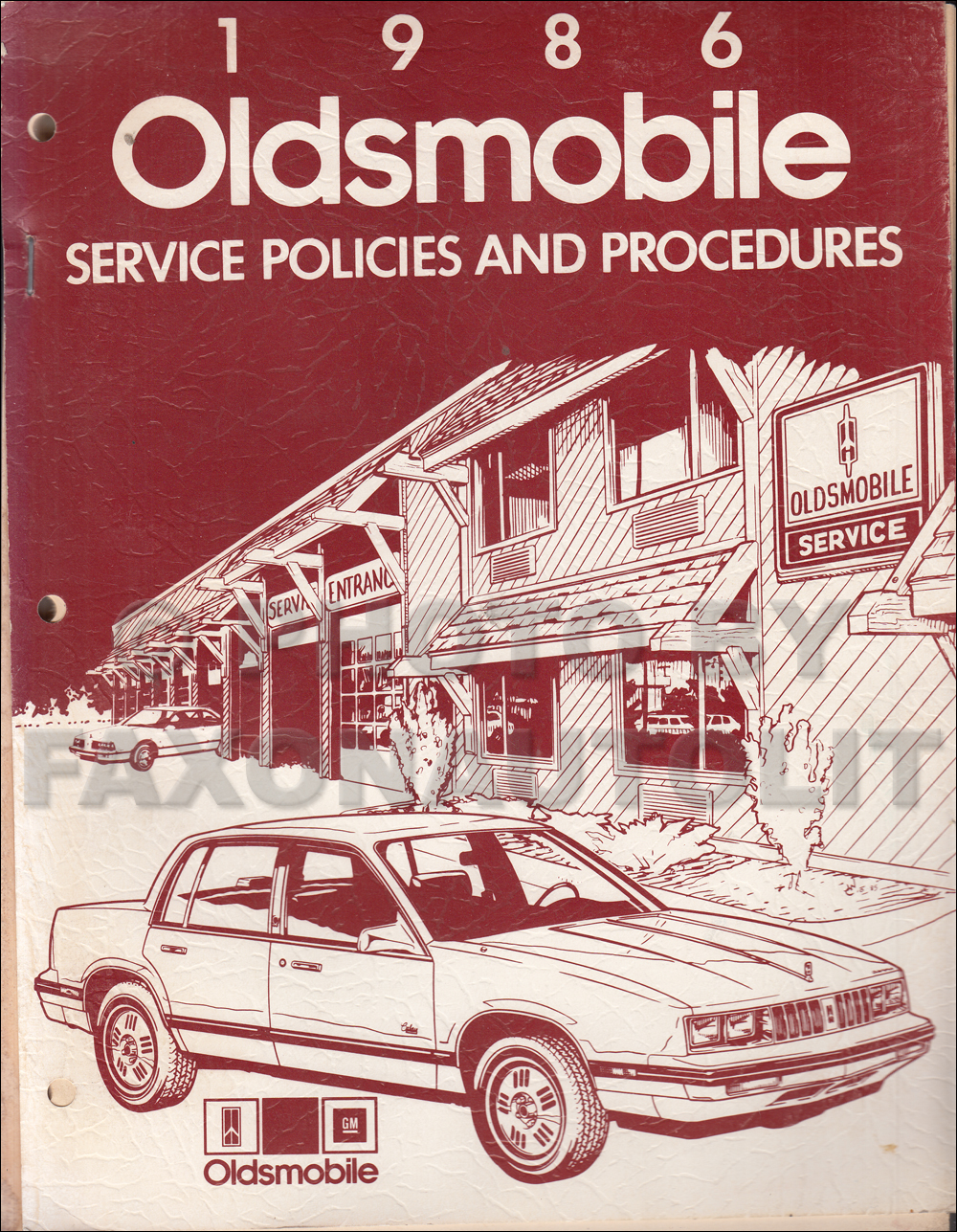 1986 Oldsmobile Policies and Procedures Manual Original