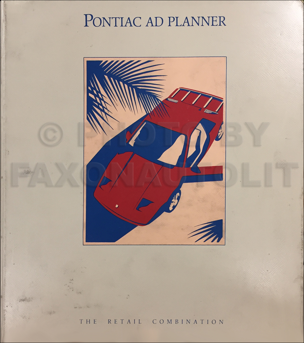 1986 Pontiac Dealer Advertising Planner Original