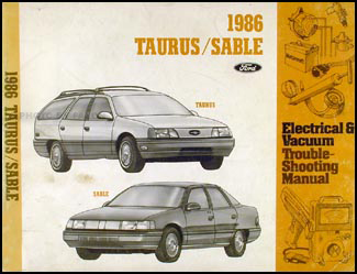 1986 Ford Taurus Mercury Sable Electrical Troubleshooting Manual