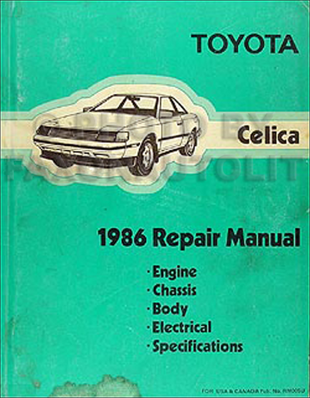 1986 Toyota Celica Repair Manual Original