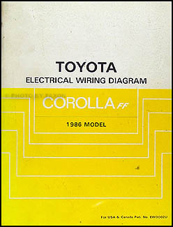 1983   1987       Toyota       Corolla    Body Collision Manual Factory Reprint