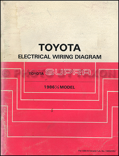 1986.5 Toyota Supra Wiring Diagram Manual Original
