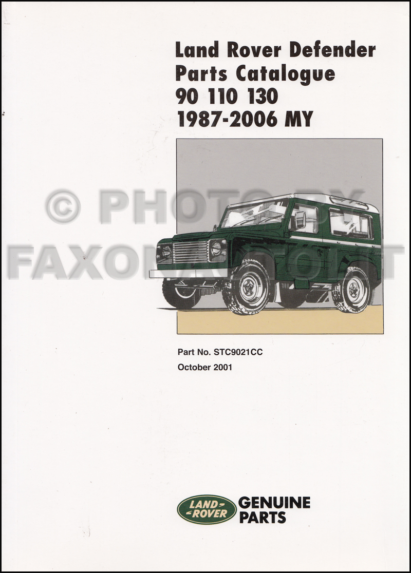 1987-2006 Land Rover Defender Parts Book Reprint
