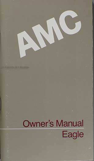 1987 AMC Eagle Owner's Manual Original