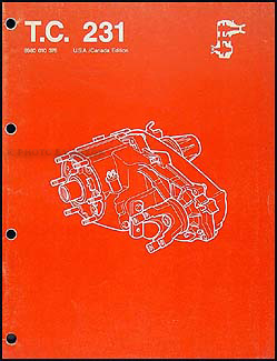 1987-1988 Jeep Transfer Case 231 Overhaul Manual Reprint