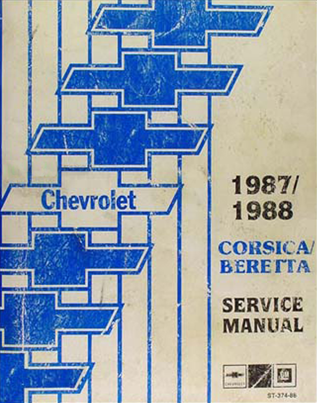 1987-1988 Chevy Corsica and Beretta Repair Manual Original