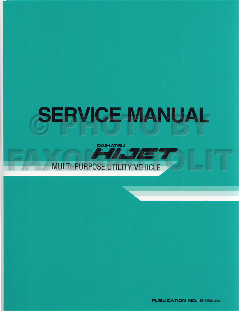 1990 Daihatsu Rocky Repair Manual Original