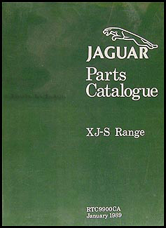 1987.5-1989 Jaguar XJ-S  Parts Book Original