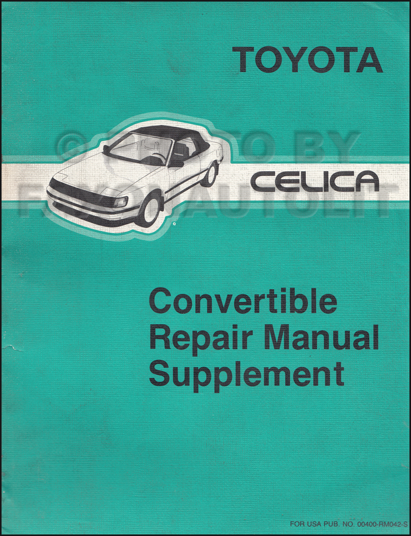Wiring Diagram 1985 Toyota Celica Gts Convertible Electrical 91 1987 Manual 1991 1995 Repair Original