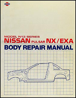 1987-1990 Nissan Pulsar NX Body Repair Manual Original
